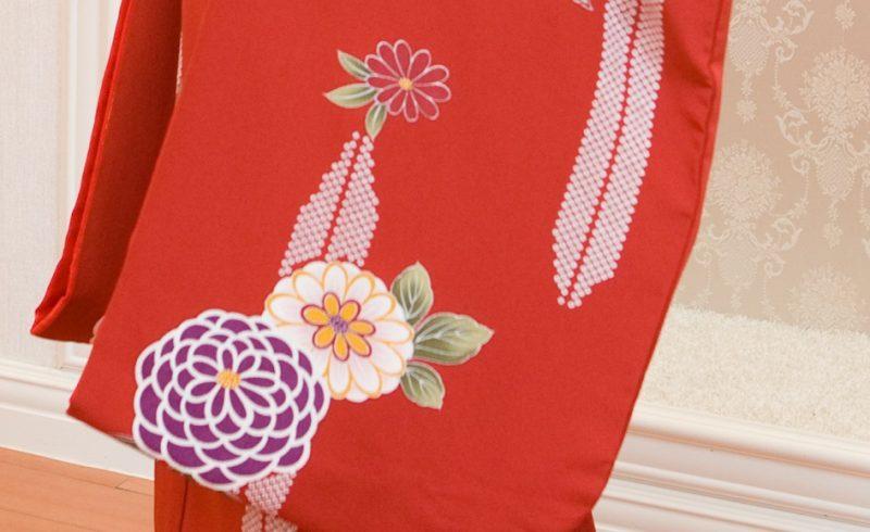 赤 万寿菊の柄