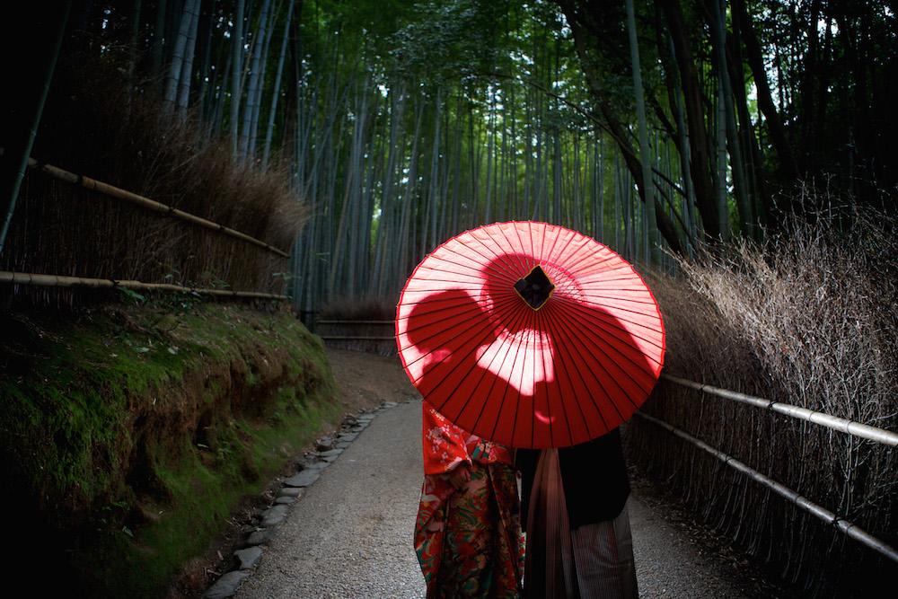 和装前撮り写真 嵐山