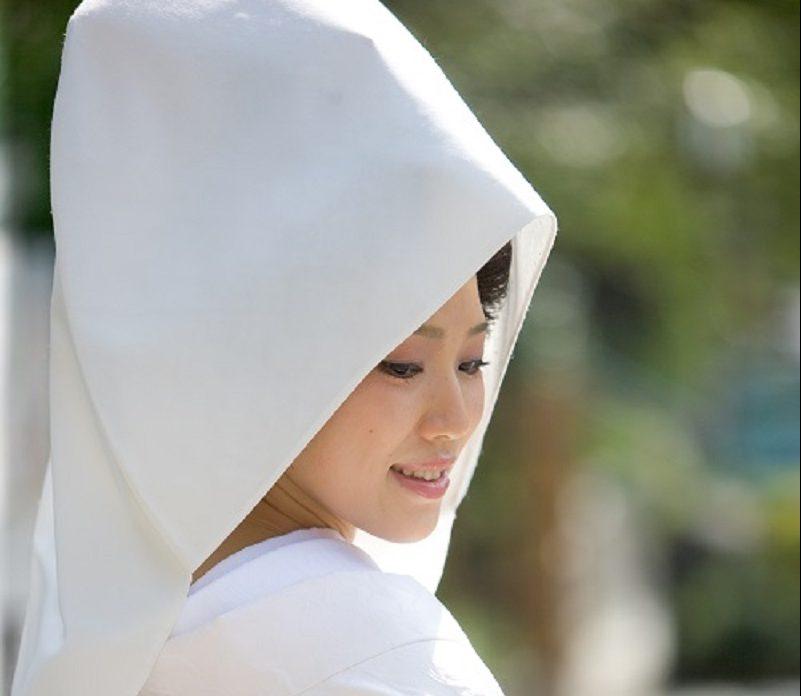 綿帽子 白無垢