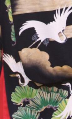 松鶴雲取の柄