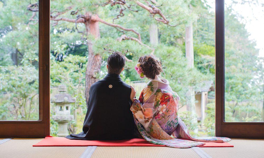 前撮り 日本庭園