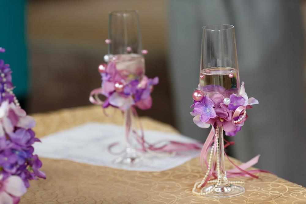 和婚 装花 紫