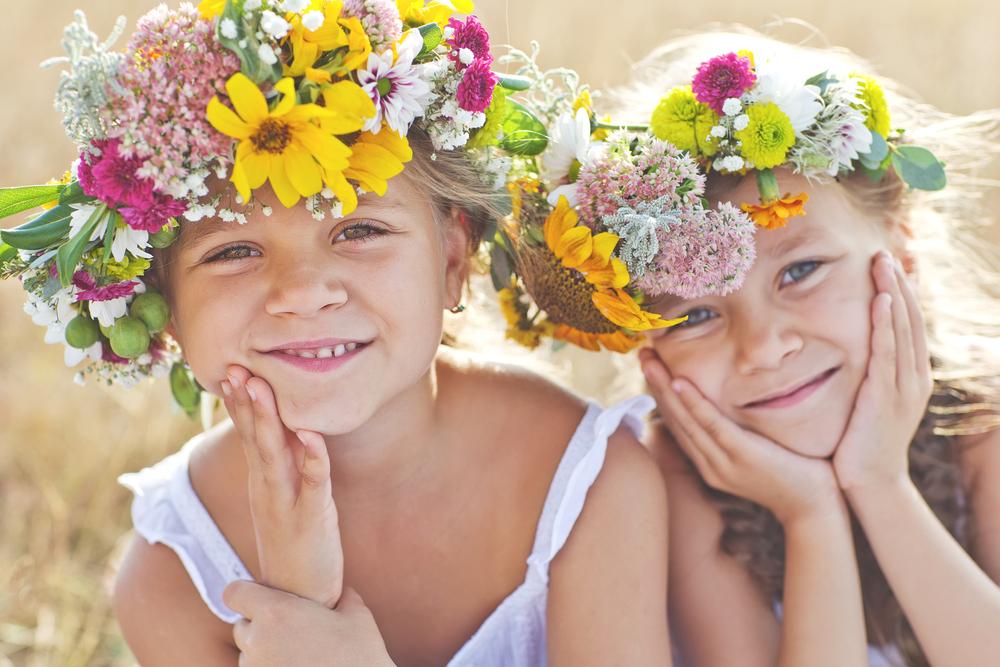 子供と花冠