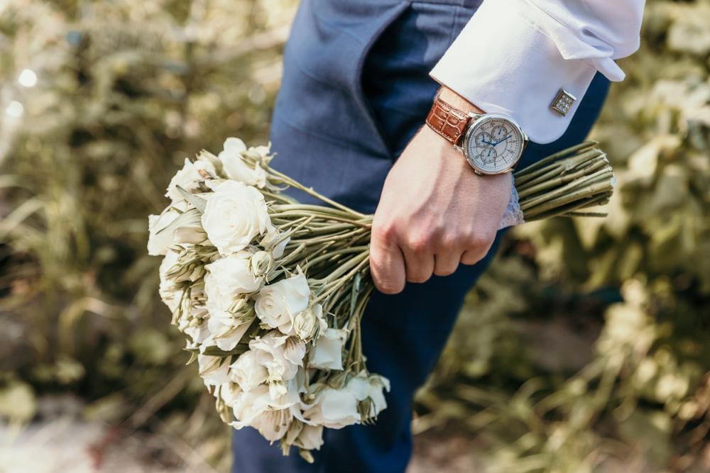 男性 腕時計 結婚式