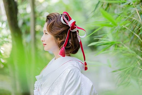 白無垢 結婚式 髪飾り 和婚
