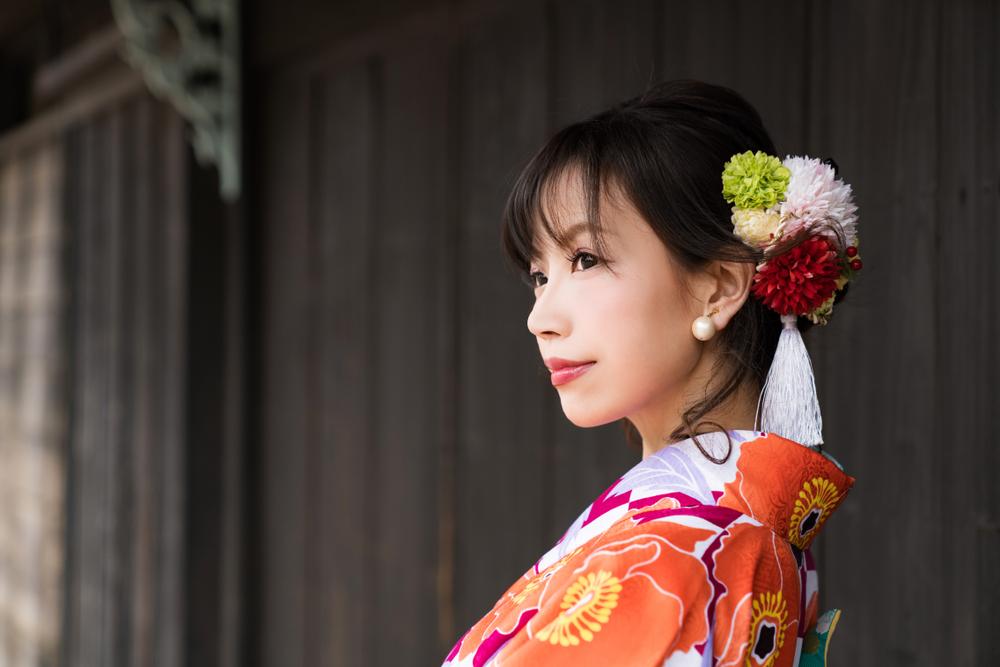色打掛 結婚式 ヘアメイク 髪飾り 赤 着物 ヘアアレンジ